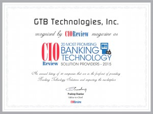 Banking Technology GTB Technologies 2015