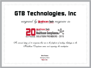 Healthcare HIPAA Compliance Award GTB 2015