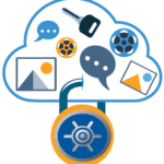 cloud storage gtb shield lock icon
