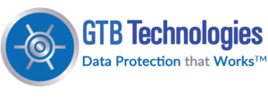 Logo_1 GTB Data Protection that Works left vault bkgrd white Name blue